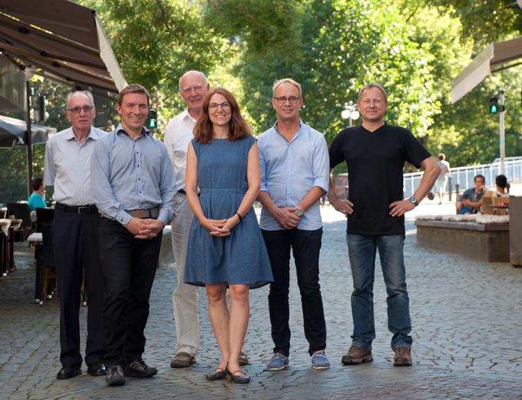 Einige Vorstandsmitglieder des AIV saar (v. l. ): Jürgen Gordner, Daniel Kleineher, Elmar Kraemer, Kim Ahrend, Stefan Drees, Christian Hauter (ehemaliges Vorstandsmitglied); Foto: Ludwig Schmidtpeter