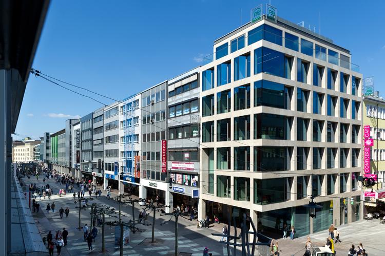 PSD Bank RheinNeckarSaar eG - Neubau in der Bahnhofstraße Saarbrücken. Foto: Iris Maurer