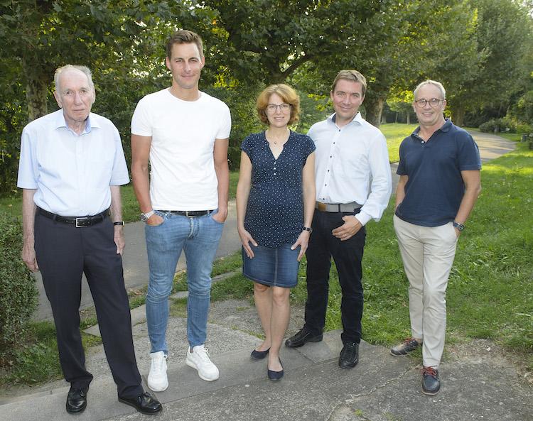 Einige Vorstandsmitglieder des AIV saar (v. l. ): Jürgen Gordner, Maximilian Klein, Kim Ahrend, Daniel Kleineher, Stefan Drees, Foto: Iris Maurer